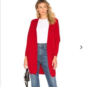 NWT Lovers + Friends Red Ribbed Knit Cardigan